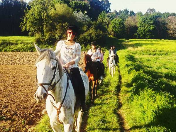 Passeig a cavall a l'Empordà