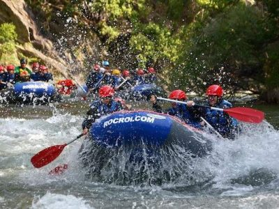 RAFTING THROUGH THE WATERS OF NOGUERA PALLARESA RIVER
