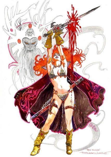 Red Sonja Conan Comics Ilustracion Esteban Maroto